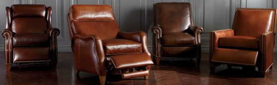 4 leather reclining chairs from Ethan Allen