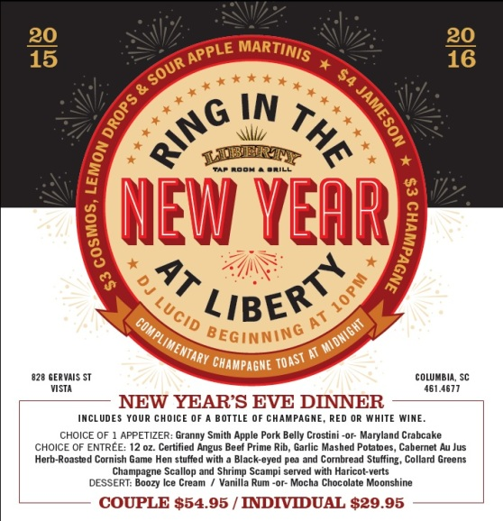 Liberty Vista NYE Dinner Event
