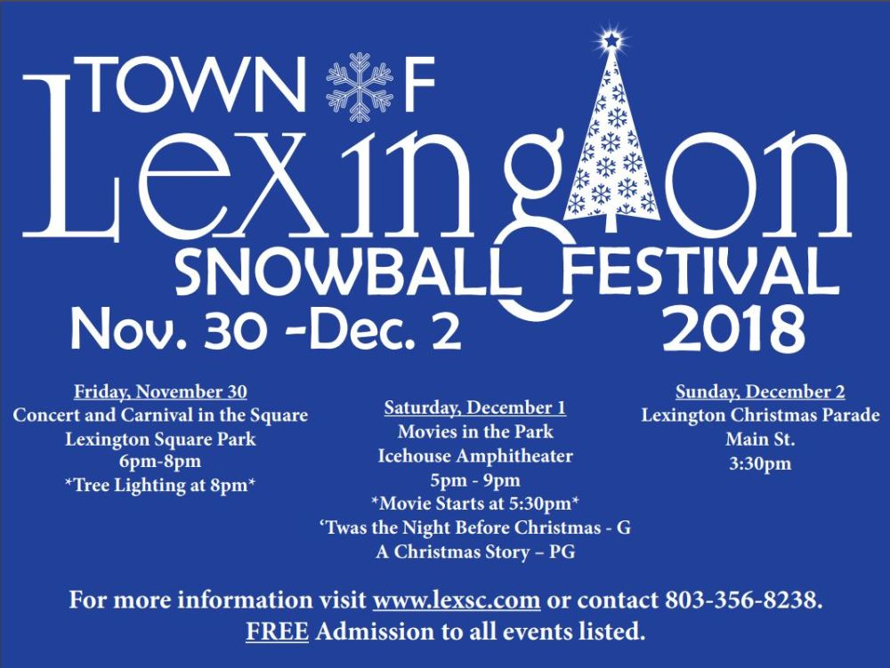 Town of Lexington Snowball Festival ad